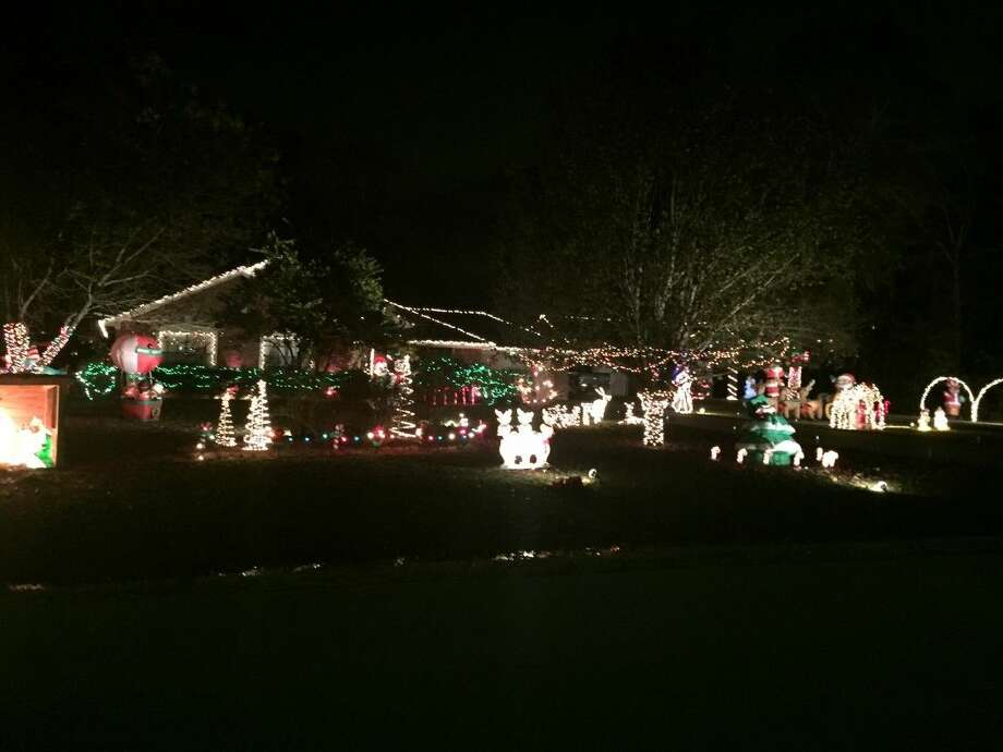 This is the second year Mark Shaw has won first place for his decorations at 2438 Centurion Circle.