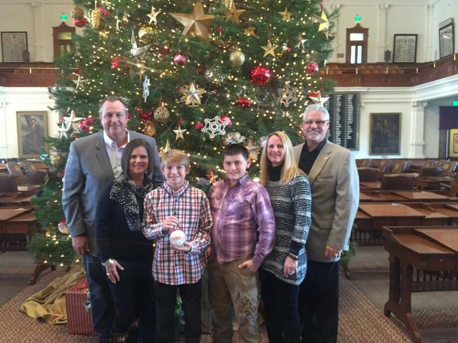 Earlier this month, State Representative Dan Huberty and his family accompanied the Otis family of Humble to the Texas Capitol to present the District 127 Ornament for the Texas House Christmas Tree.