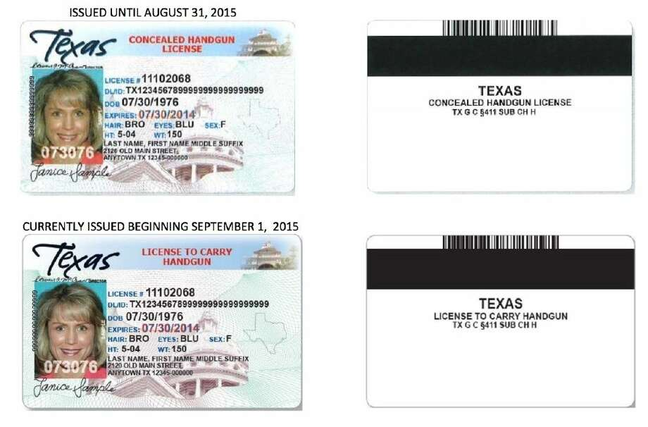 An example of CHL and LTC licenses courtesy of Texas DPS.