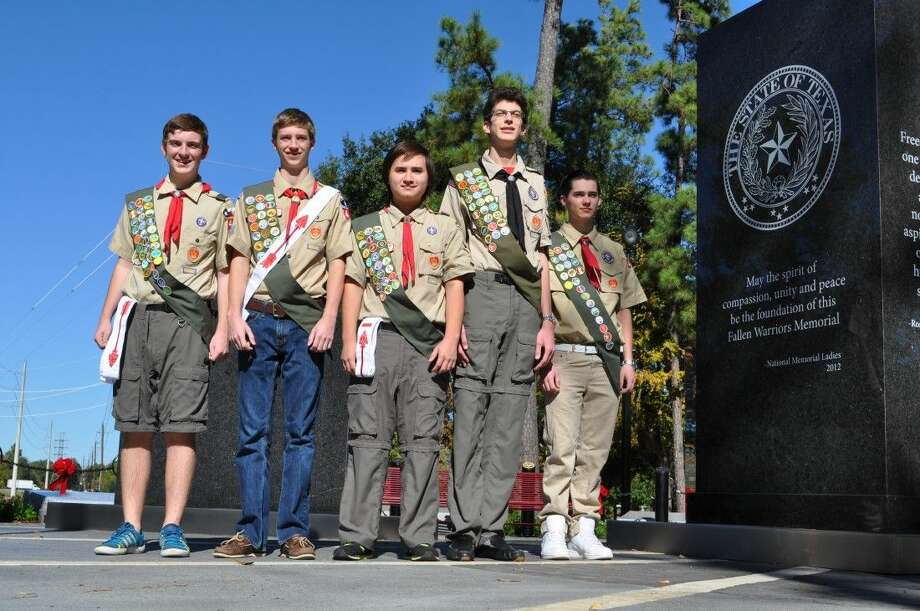 Pictured from left are Eagle Scouts Matt Granger, Stephen Gluth, Alex Brogan, Joseph Khalaf and EJ Clutter. Photo: Submitted Photo
