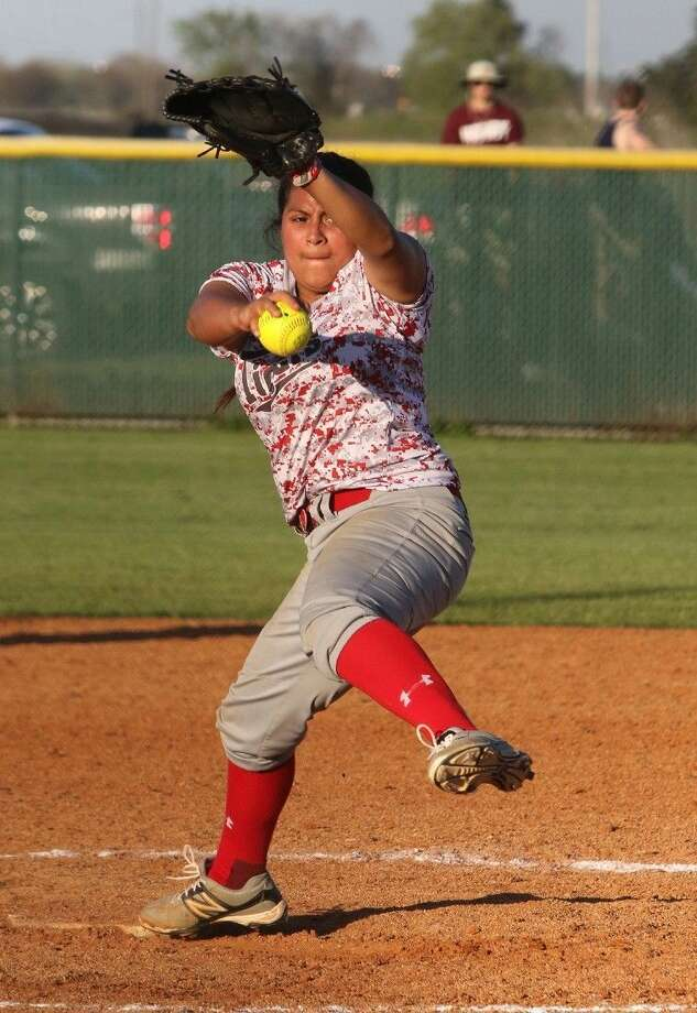 Bre Trevino and Travis defeated Clear Falls 7-1 for the first playoff series victory in school history. The Lady Tigers finished 13-3 in district play, one year after their first district championship. Photo: HCN File Photo