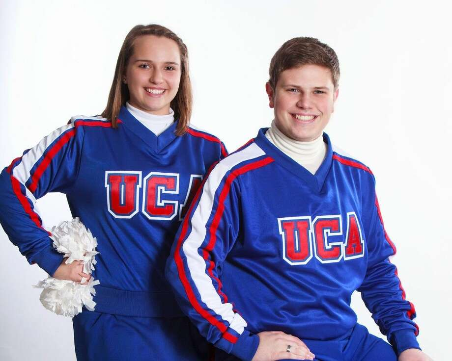 Cypress Lakes cheerleaders Macey Hudson and Chase Nounou will perform in the London New Year's Day Parade on Jan. 1, 2015. Photo: Submitted Photo