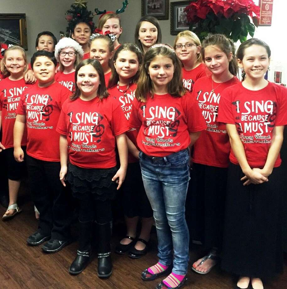 Members of the Piney Woods Elementary Treblemakers choir performed for members of the board during the Dec. 14 Splendora ISD school board meeting. Photo: Submitted