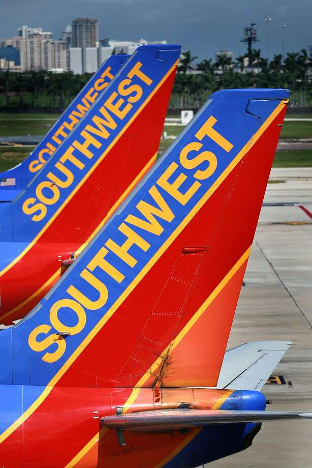 A fire forced passengers and crew to evacuate a Southwest flight bound for San Jose Monday night, officials said. Photo: Joe Raedle, Getty Images