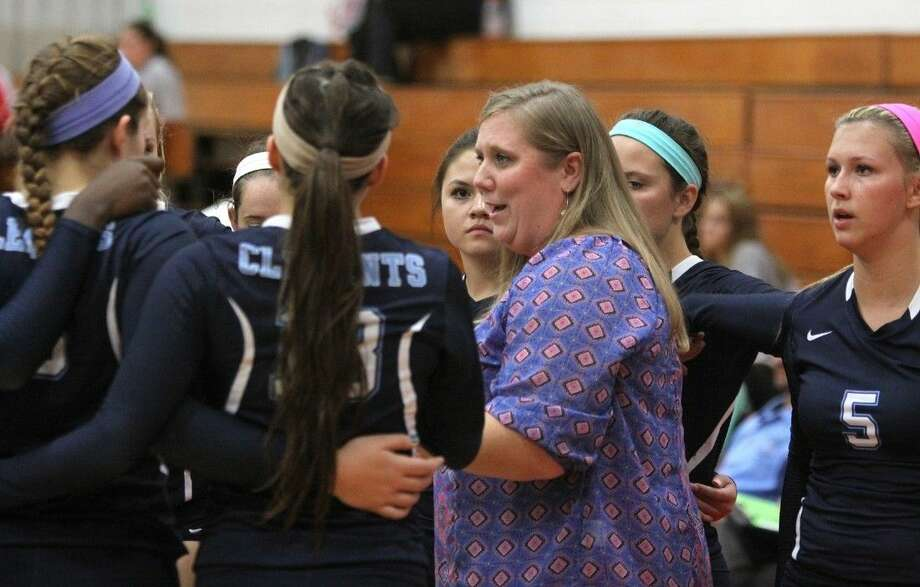 The Clements volleyball team finished third in District 23-6A for another playoff berth, led by district MVP Lauren Stifflemire (5). Stifflemire was the team's top setter and attacker. Photo: HCN File Photo