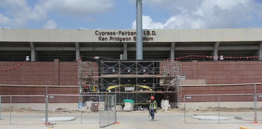 Despite recent Houston flooding, CFISD is moving forward with renovations to Ken Pridgeon Stadium. The district still plans on the stadium being ready for the first football game on Sept. 1.