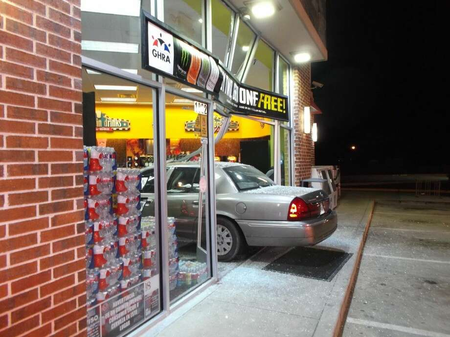 This car crashed through the front of a Shell convenience store on Pearland Parkway Christmas Eve.
