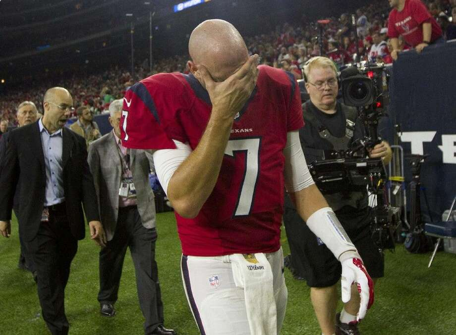 Houston Texans quarterback Brian Hoyer hasn't played since leaving the Texans' game with the defending Super Bowl champion Patriots on December 13 with a concussion.