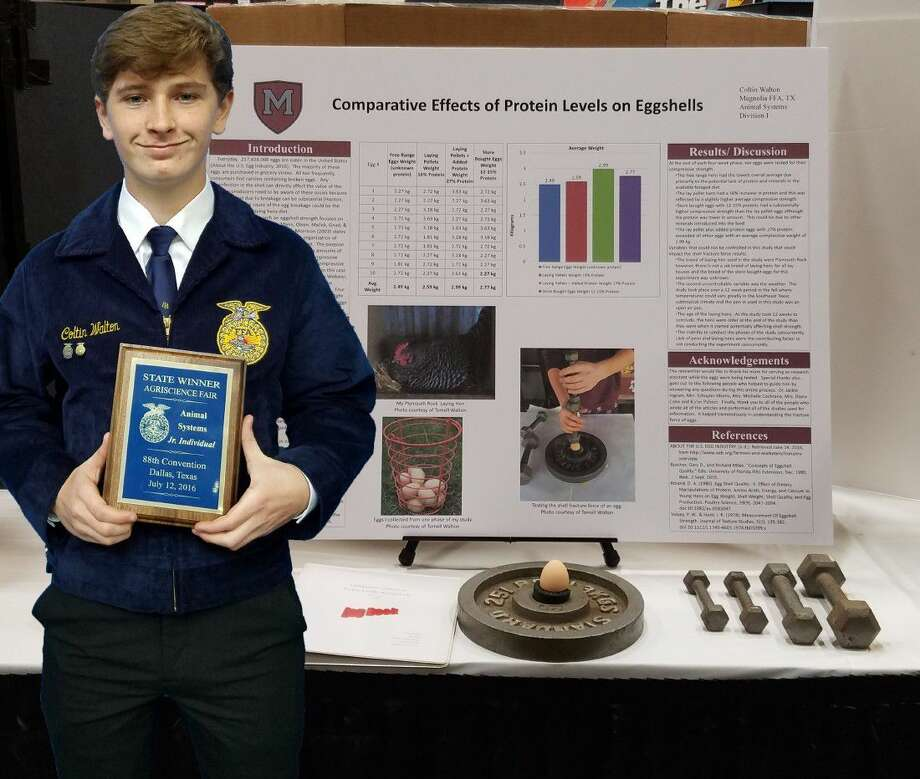 Magnolia High School student Coltin Walton competed on Tuesday, July 12, in Dallas at the 88th Annual State FFA Convention and AgriScience Fair. Photo: MISD