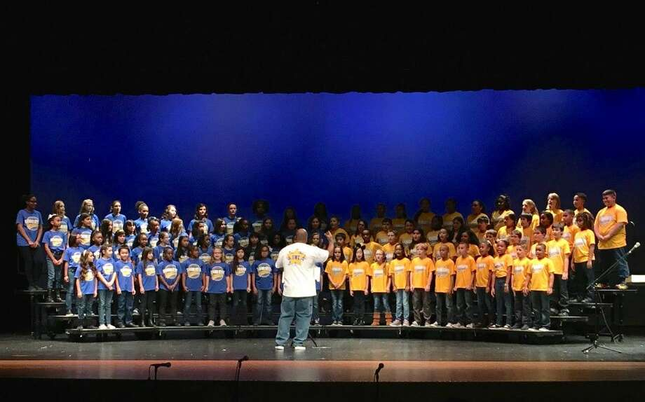 The Summerwood Elementary choir performed at the Interfaith Music Festival.