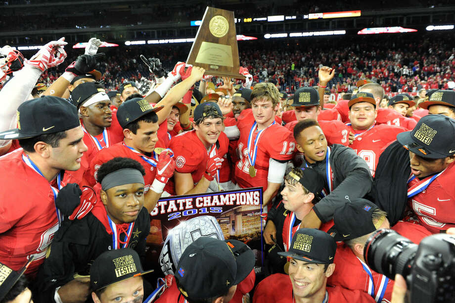 Katy defeated Lake Travis 34-7 for the eighth state championship in program history, Dec. 19 at NRG Stadium in Houston. The Tigers finished 16-0. Visit HCNPics.com for more photos. Photo: Craig Moseley