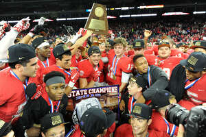 Katy defeated Lake Travis 34-7 for the eighth state championship in program history, Dec. 19 at NRG Stadium in Houston. The Tigers finished 16-0. Visit HCNPics.com for more photos.