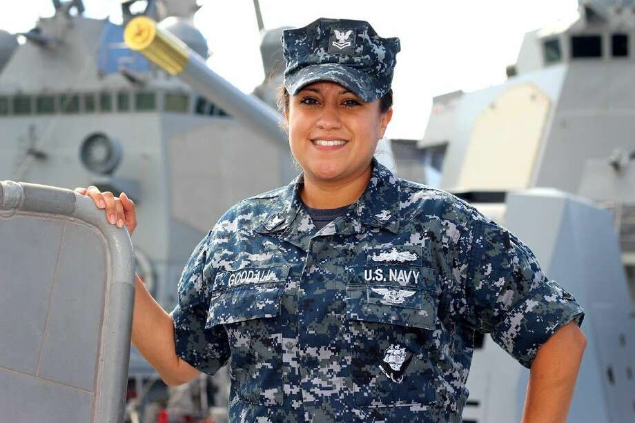 Petty Officer 1st Class Priscilla Goodall, a Pasadena native and Rayburn graduate, is a yeoman aboard USS William P. Lawrence, currently operating out of Pearl Harbor, Hawaii.