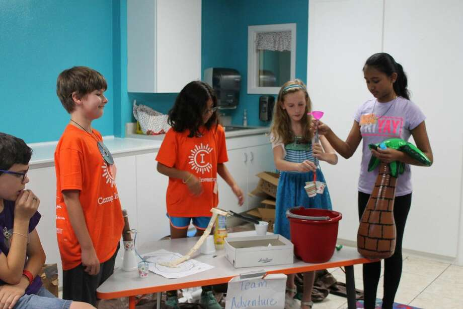 Campers present their EpicPark prototypes to their class members. Photo: Taelor Smith