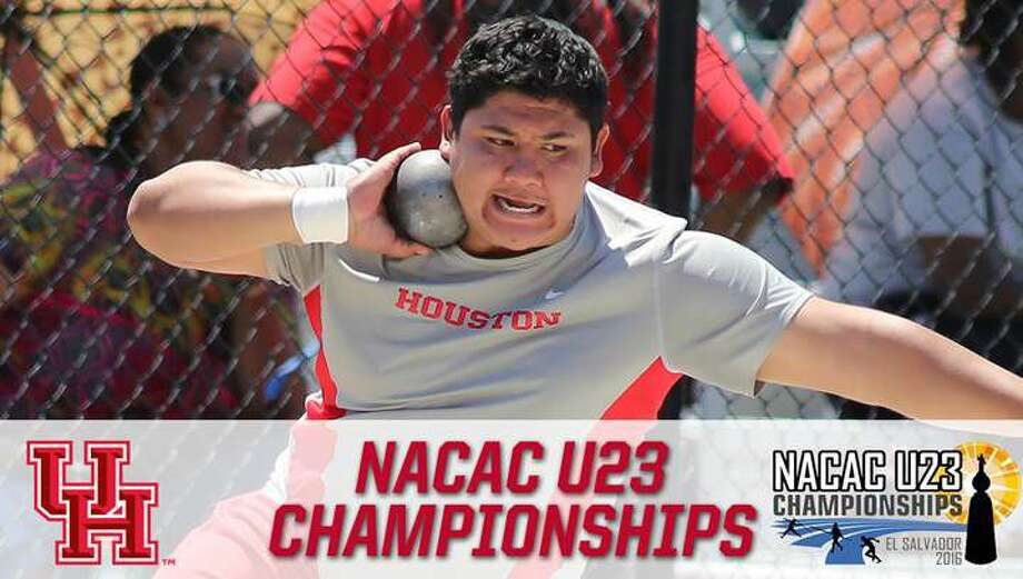 University of Houston sophomore thrower Felipe Valencia finished fifth with a throw of 58 feet, 4 inches at the NACAC U23 Championships in El Salvador. Photo: UH Athletics Media Relations