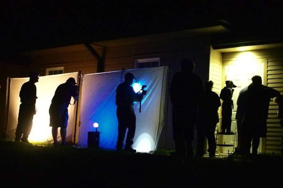 Moth Night Out events at the Trinity River National Wildlife Refuge headquarters in Liberty, Texas, is generally well-attended. Photo: File Photo