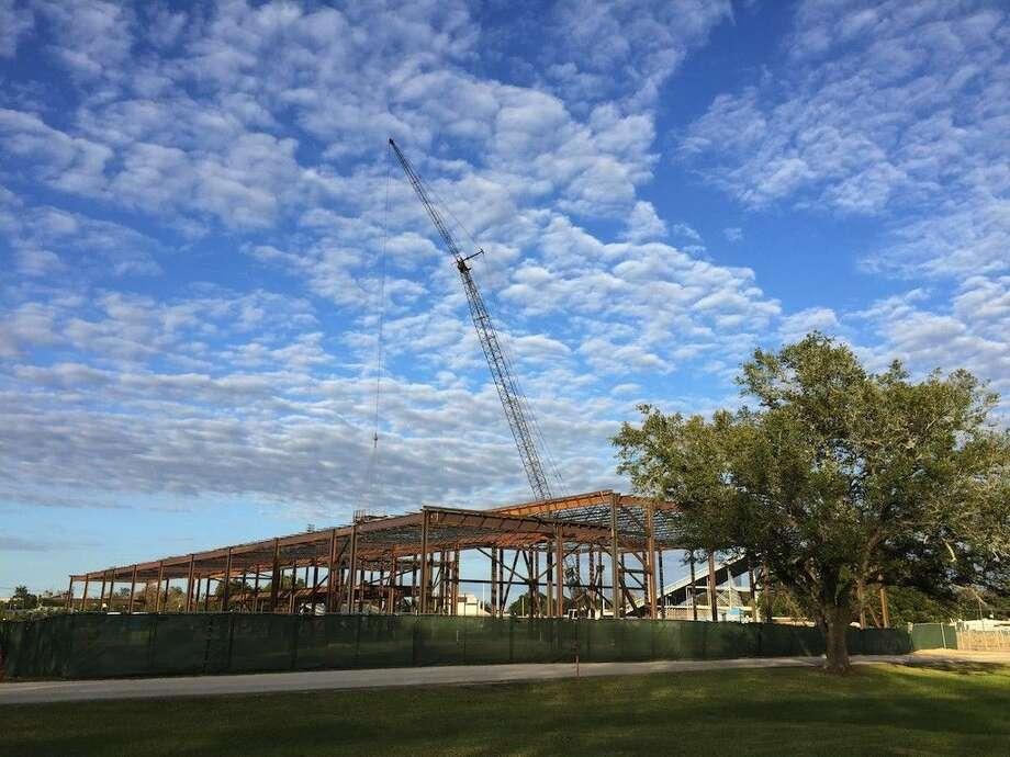Dayton ISD's new construction adjacent to Woodrow Wilson Junior High School in Dayton, Texas is moving along. Photo: Casey Stinnett