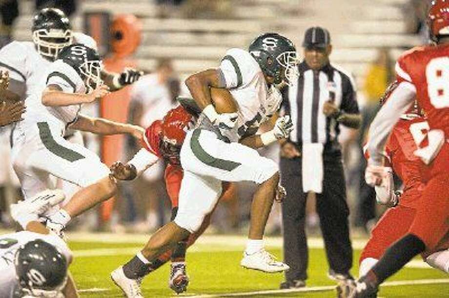 Stratford senior running back Rakeem Boyd has been selected as the District 19-5A Most Valuable Player after leading the district in rushing this past season. Photo: Kevin B Long