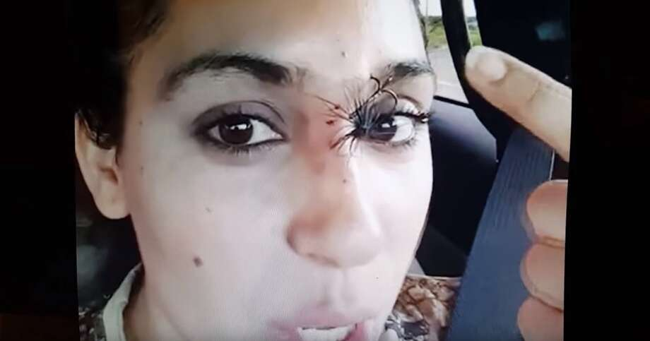 Texas mom, Vanessa Martinez, documented her experience after getting a hook stuck in her forehead while fishing in Laredo. Photo: YouTube.com/Facebook.com