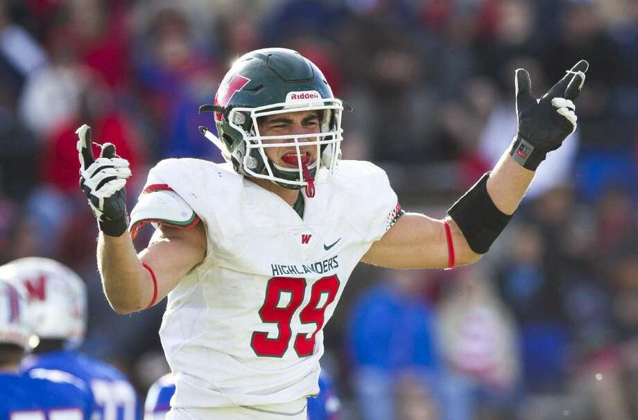 The Woodlands, led by defensive end Michael Purcell, was ranked as the No. 1 team in Region II-6A by the THSCA.