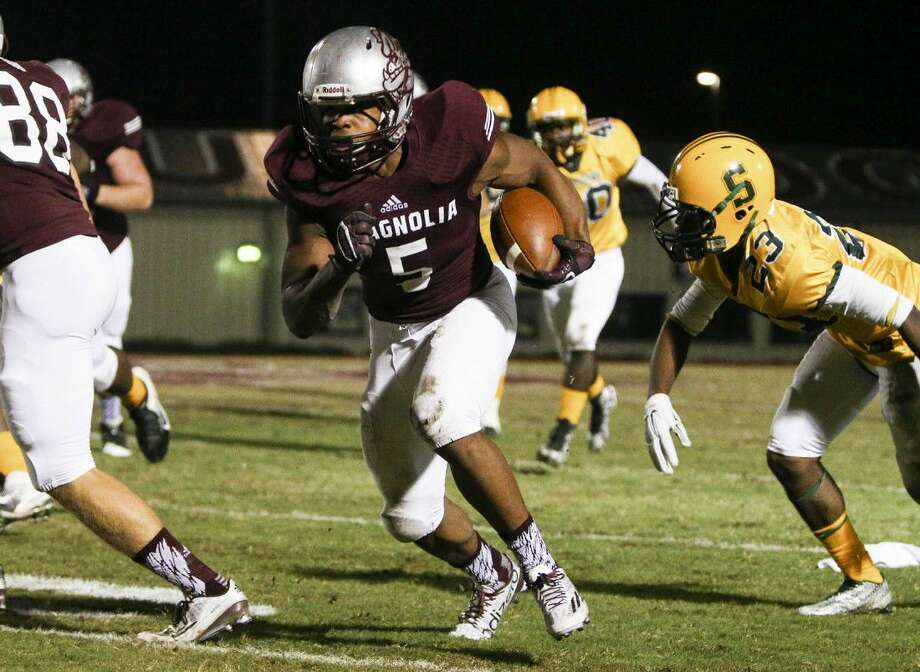 Magnolia, led by running back Anthony Johnson, was ranked as the No. 5 team in Region III-5A by the THSCA.