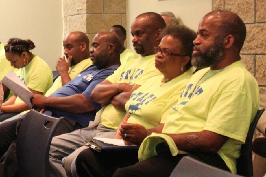 The King City Riders listen intently during the Cleveland City Council meeting on July 19. The riders were there to address a rumor that their events are not wanted in the city. Photo: Jacob McAdams