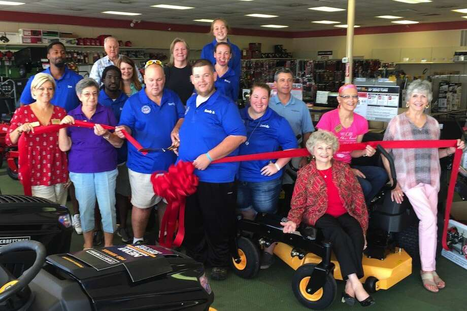 Sears Hometown has reopened and celebrated recent upgrades to the store with a Liberty-Dayton Area Chamber of Commerce ribbon cutting on Friday morning, July 22. Photo: Casey Stinnett
