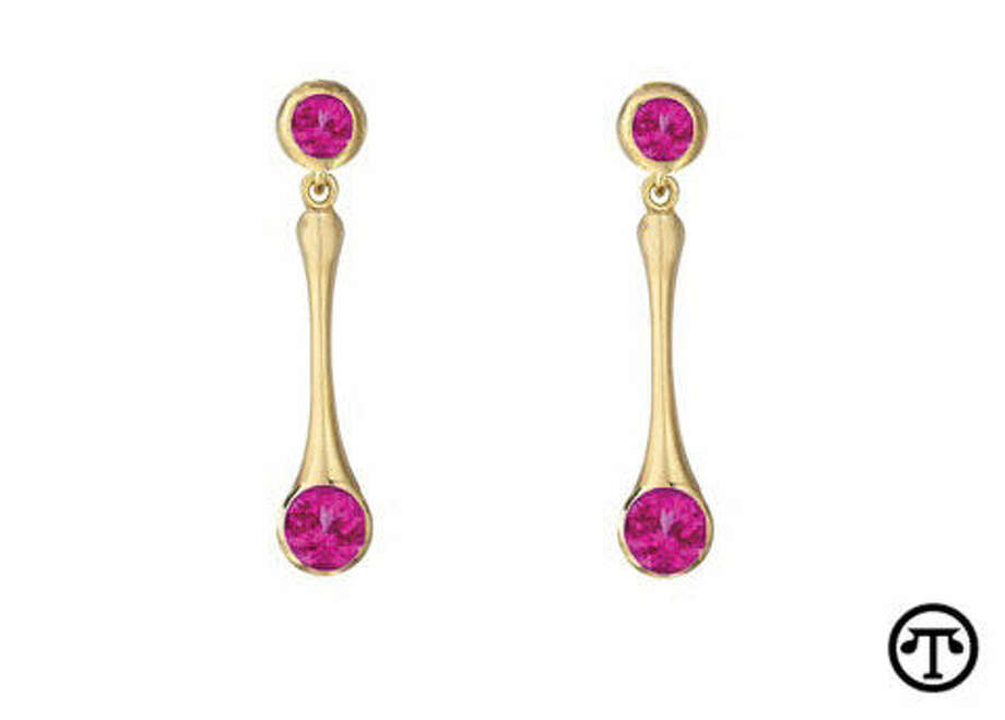 Spinel, like these red spinel earrings from Carelle, is now a birthstone for August. (NAPS)