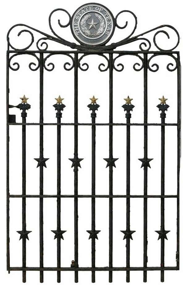 For the history buff, Austin Auction Gallery will present a pair of late 19th century gates and accompanying fencing designed for the perimeter of the Texas State Capitol in 1888 by William Munro Johnson.
