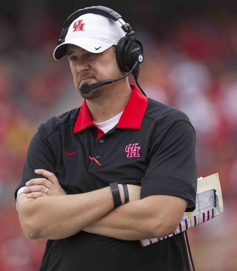 University of Houston head coach Tom Herman has quickly turned around the Cougars' football program with a philosophy of tough love and tenacity. Photo: Jason Fochtman