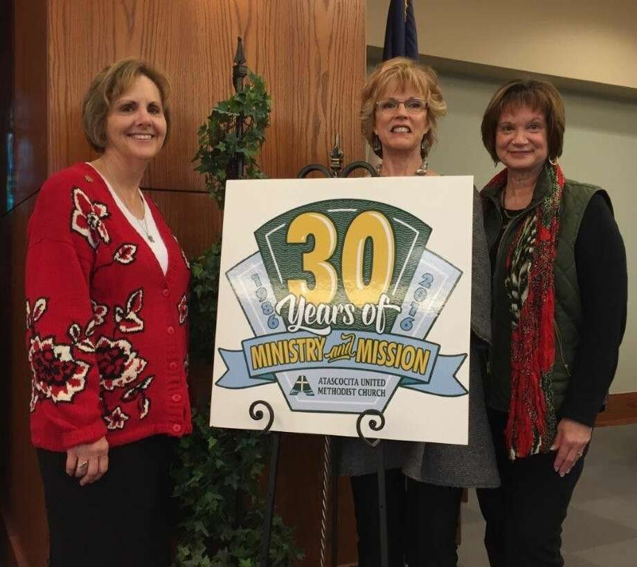The 30th Anniversary committee, from left Rev. Deborah Proctor, Martha Theiss and Carla Hopkins. Not pictured, Nancy Shortsleeve, Charlotte Riggs and Tammie Headlee.