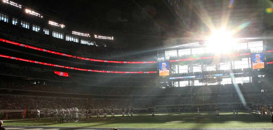 ARLINGTON, TX - OCTOBER 23: The sun shines through the windows of Cowboys Stadium as the Dallas Cowboys take on the St. Louis Rams at Cowboys Stadium on October 23, 2011 in Arlington, Texas. (Photo by Layne Murdoch/Getty Images) Photo: Layne Murdoch/Getty Images