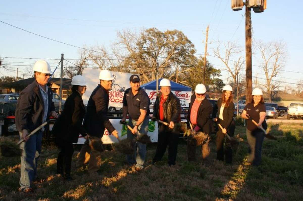 The city of Seabrook broke ground for the building of Tookie's Seafood last Thursday.