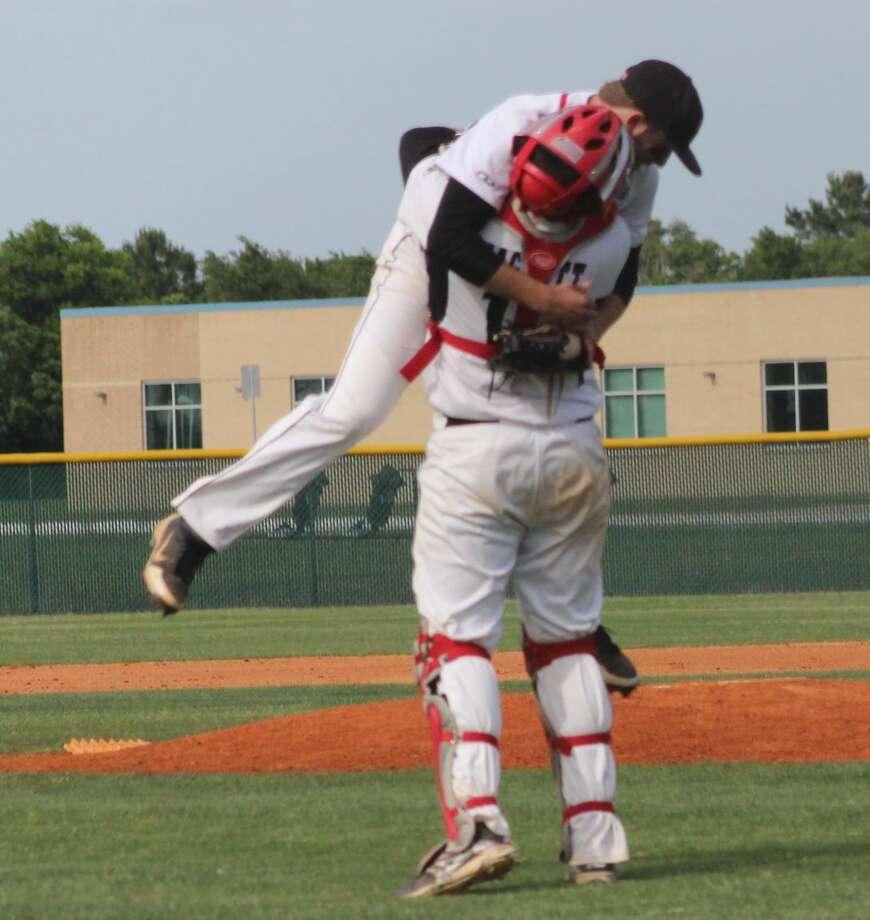 Huffman catcher Jay Hackett will play at Ranger Junior College next season.