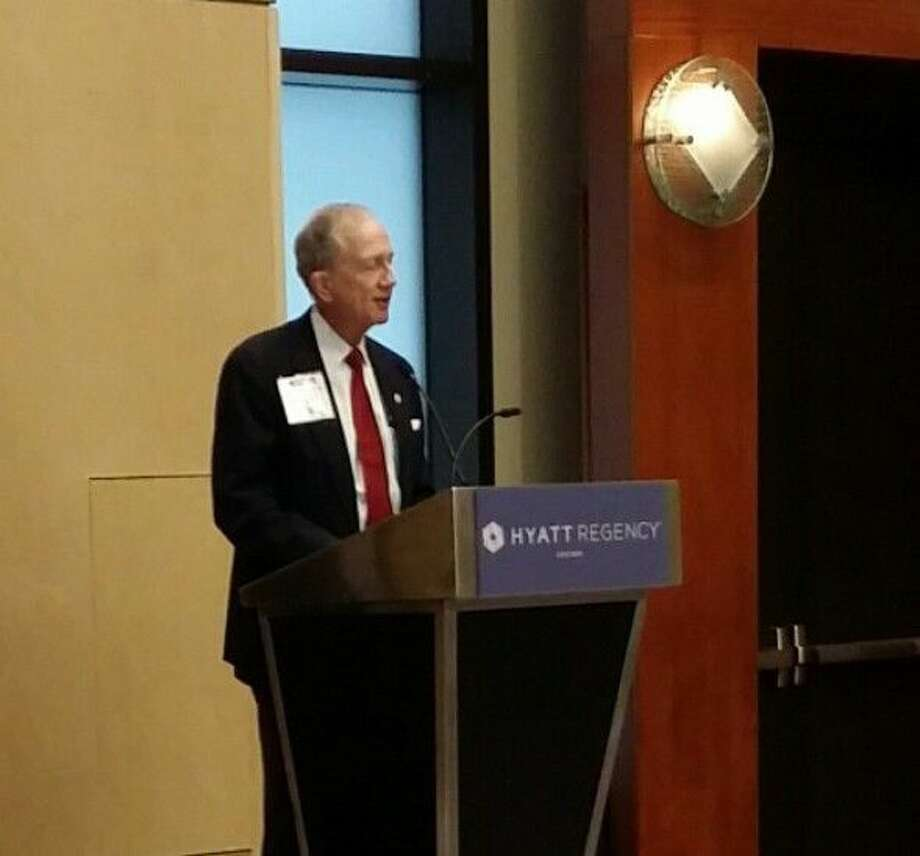 Harris County Attorney Vince Ryan spoke at the annual conference of the American Association of Law Libraries in Chicago on Sunday, July 17, during ceremonies honoring his efforts to promote, support and improve the Harris County Law Library. Photo: Submitted Photo
