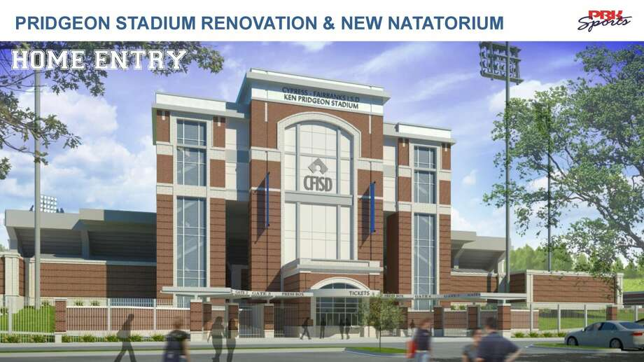 The changes in the Pridgeon Stadium facade will match the aesthetic currently exhibited at Cy-Fair FCU Stadium and the Berry Center. Photo: C/o CFISD Facilities And Construction