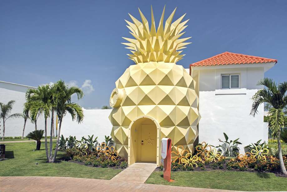 Pineapple Villa, a real-life replica of SpongeBob SquarePants' Bikini Bottom home. Photo: Courtesy