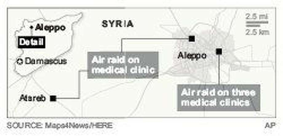 Intense airstrikes in Syria's Aleppo province hit 5 clinics
