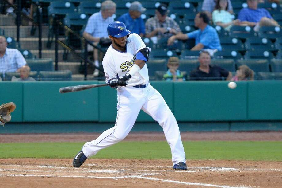 Former Klein and San Jacinto College student-athlete Jeremy Barfield is in his second season with the Sugar Land Skeeters, leading the Atlantic League in extra-base hits while ranking in the top five in home runs, RBI, doubles, walks and sluggin percentage. View additional photos at HCNPics.com. Photo: Craig Moseley