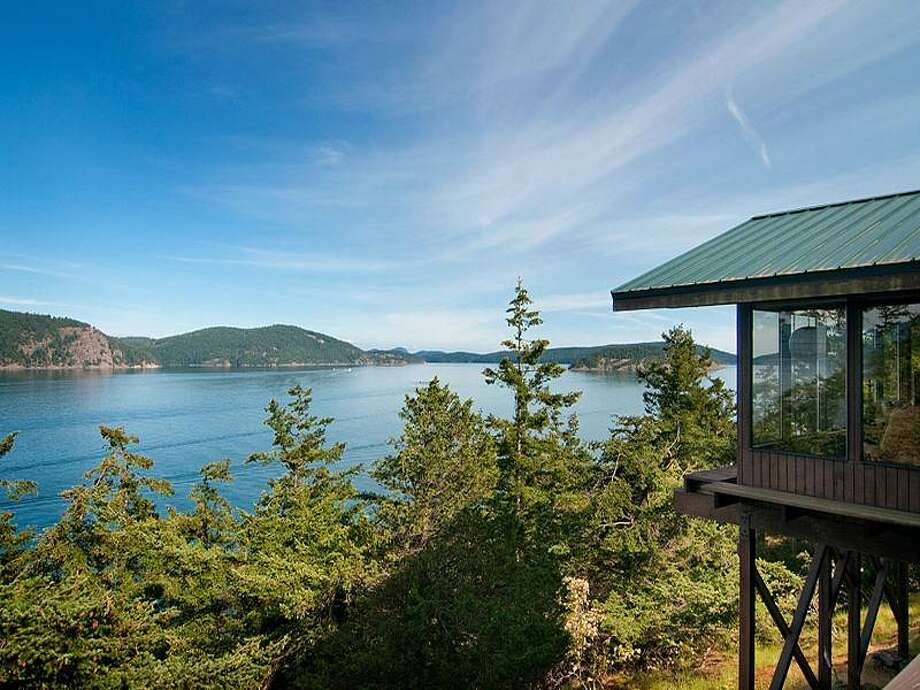 Lopez Island compoundAddress: 720 Shoreland DriveListed price: $1.299 millionThe first stop on our mini-tour takes us to Lopez Island. This home is just over 4,000 square feet, and sits on three sprawling acres. The four bedroom, four bathroom home has commanding views of the surrounding islands, as well as 370 feet of high-bank waterfront. See the full listing. Photo: Listing Courtesy Moira Holley And Scott Wasner, Realogics Sotheby's International Realty