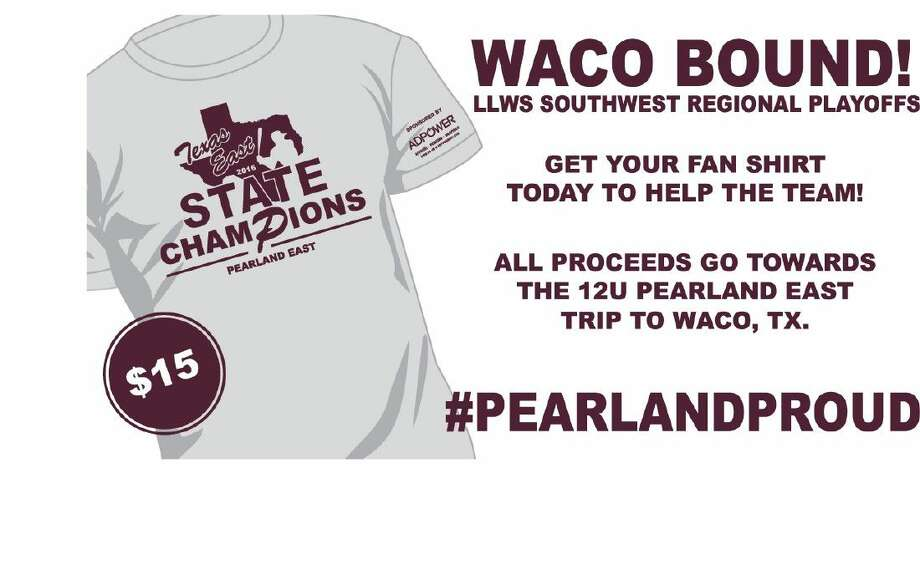 A fundraiser for the Pearland East All-Stars will be held from 10:30 a.m.-1 p.m. this Saturday at the Pearland Dad's Club. State Champion T-Shirts will be available in youth, large, and adult sizes small to 2XL. Photo: Submitted Photo