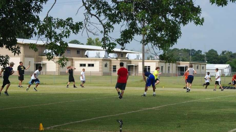 Around 40 future Panthers took part in Liberty High School's football camp July 28-31. Photo: CASEY STINNETT