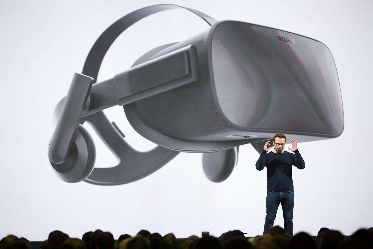Brendan Iribe, the CEO of Oculus VR, talks about the future of virtual reality, during Oculus Connect 3, on Thursday, Oct. 6, 2016 in San Jose, Calif. Oculus, a Facebook-owned company, held its third-annual developers conference at the San Jose McEnery Convention Center.
