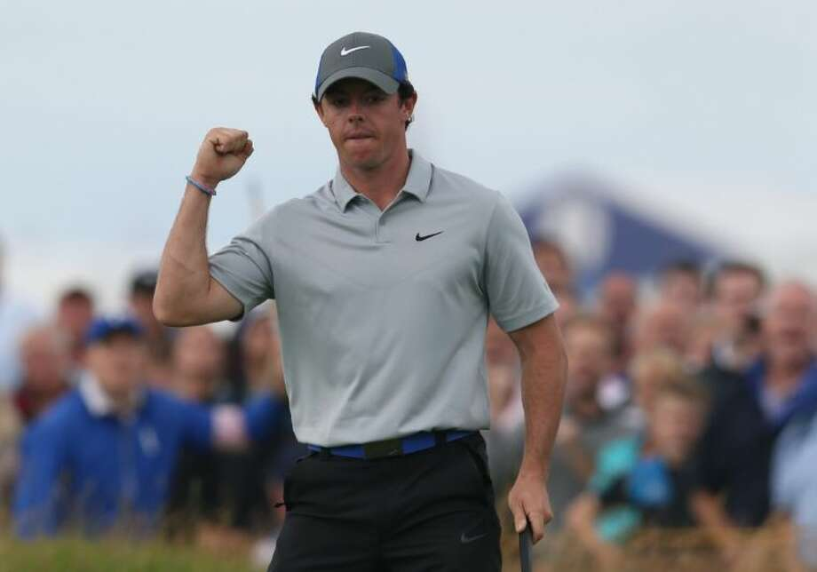 Rory McIlroy of Northern Ireland leads the British Open by six shots.