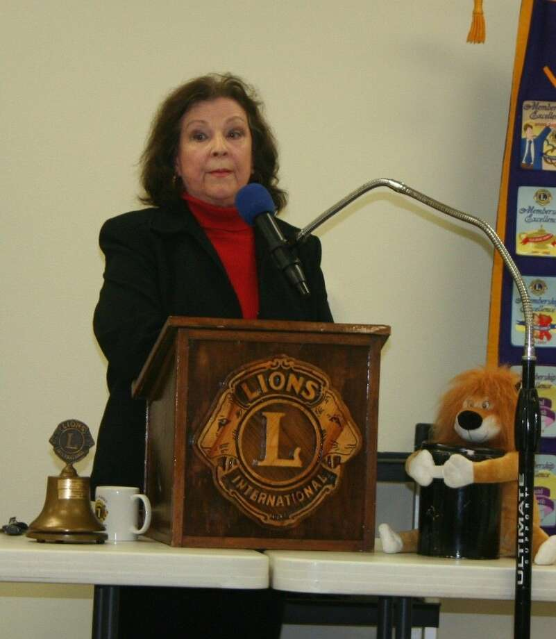 Cleveland Lions Club member Beverly Ericks spoke on her life and how she turned negativity into positive experiences. Photo: Stephanie Buckner