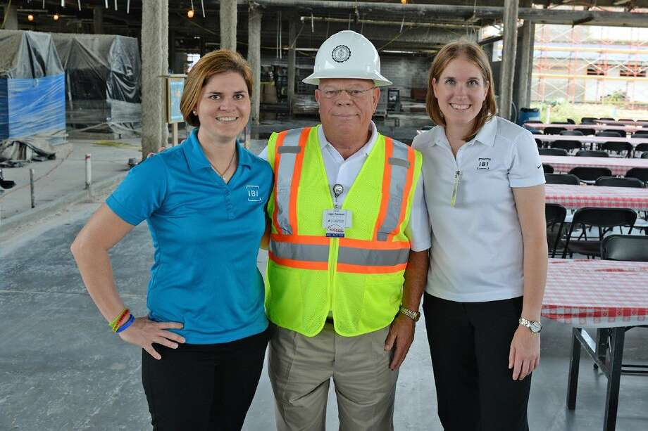 From left, IBI Group, Inc. Assistant Project Manager Ann Frankovich, CFISD Director of Project Management Jody Doebele and IBI Group, Inc. Project Manager Laura Michela attend the milestone safety celebration at Bridgeland High School on July 27.