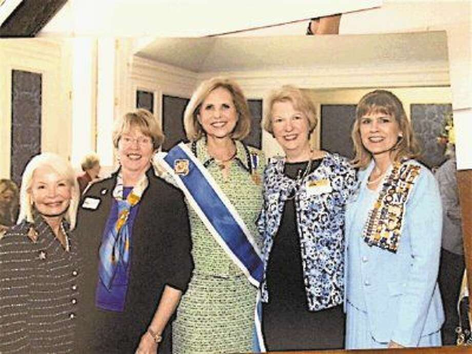Pictured from left are Pegi Ivancevich, Jaye Hendon, Lynn Forney Young (NSDAR President General); Betty Byrd, and Ronee Schneider (Regent of the Heritage Trails chapter, NSDAR). Photo: Submitted Photo