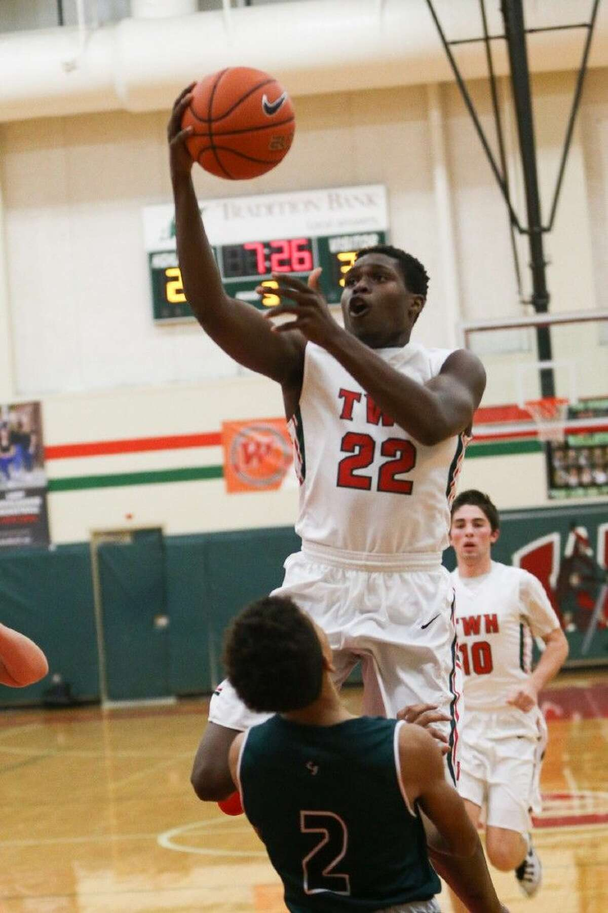 The Woodlands' Romello Wilbert averaged 13 points per game for the Highlanders this season.