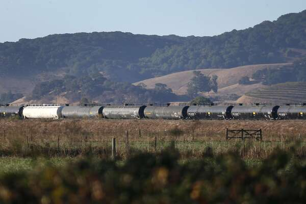 Fuel trains in Wine Country town ignite standoff
