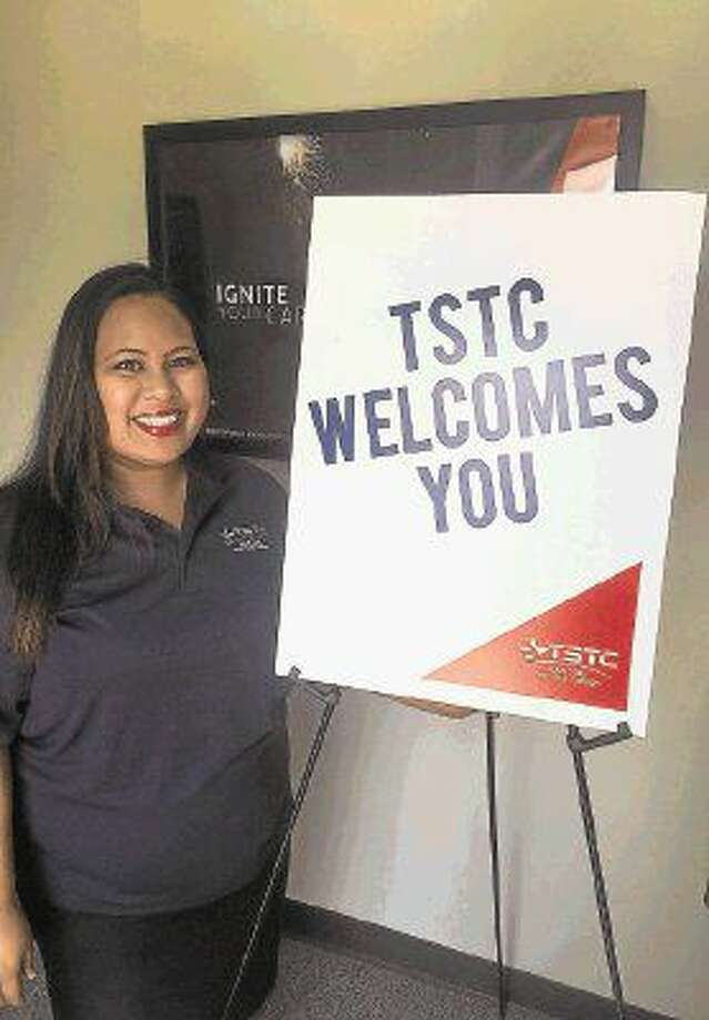 Sugar Land native Marigold Sagrado at a TSTC open house. She sees a major opportunity as the recruitment representative to help students of all ages realize their dream of a college degree that will lead to a successful career.